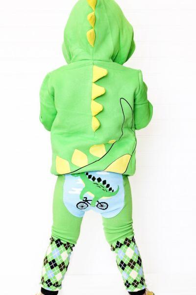 Doodle Pants - Dino on a Bike Leggings