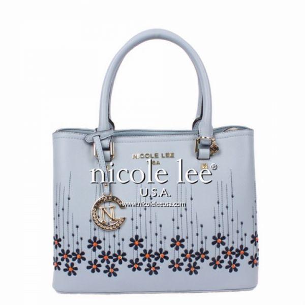 "Nicole Lee - Handtasche ""Rosalie Floral"" blau Tote"