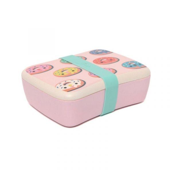 Petit Monkey - Bambus Lunchbox Donuts pink