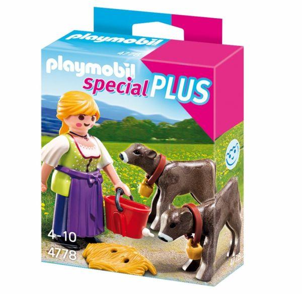 PLAYMOBIL® 4778 - Bäuerin mit Kälbchen