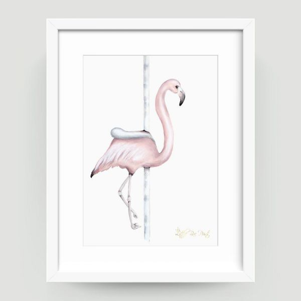 Little Rae Prints - Poster Carousel Flamingo