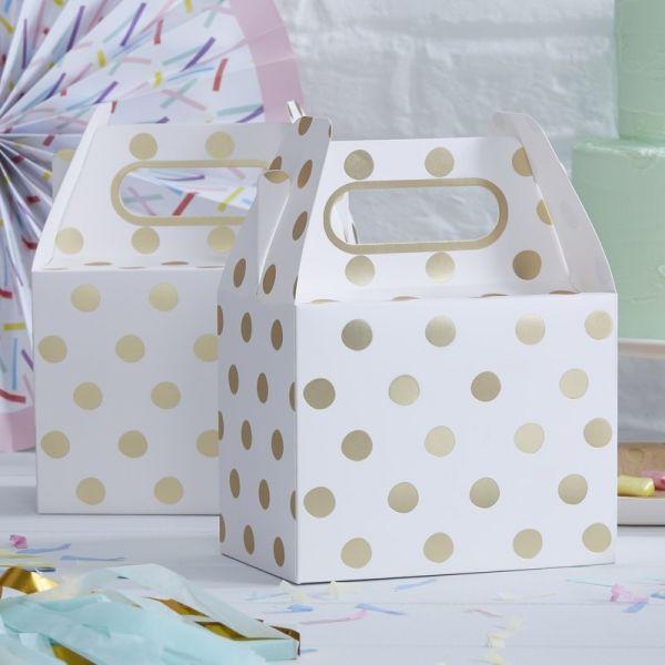 Ginger Ray - Partyboxen Polka Dot Gold