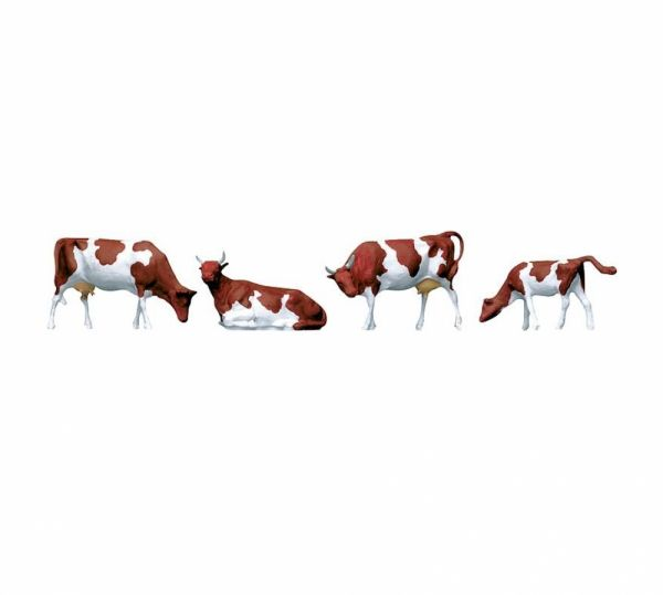 FALLER 154004 - Kühe, braun gefleckt, Spur H0