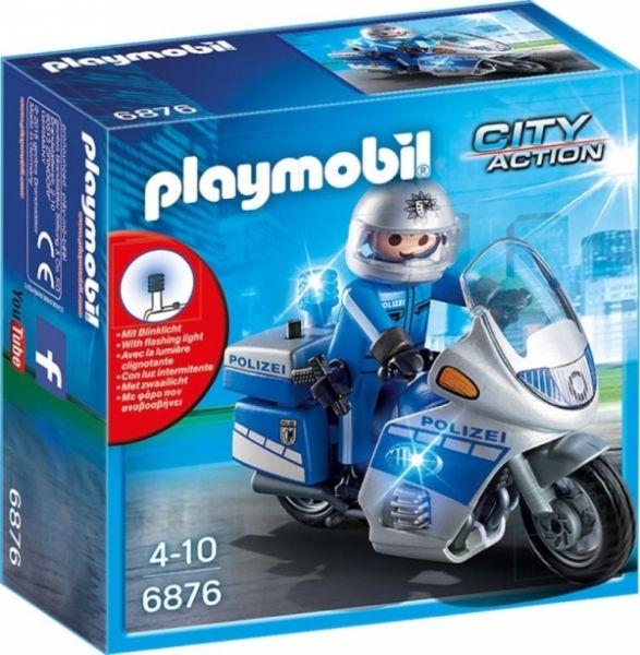 PLAYMOBIL® 6876 - Motorradstreife mit LED-Blinklicht