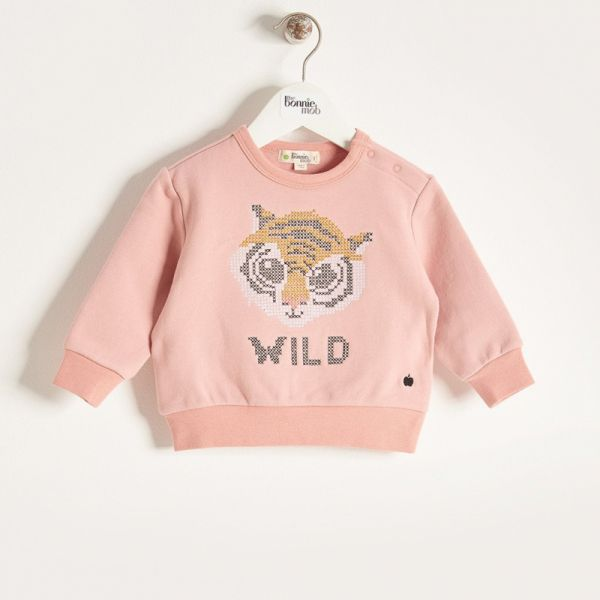 Bonniemob - Pullover Tiger rosa