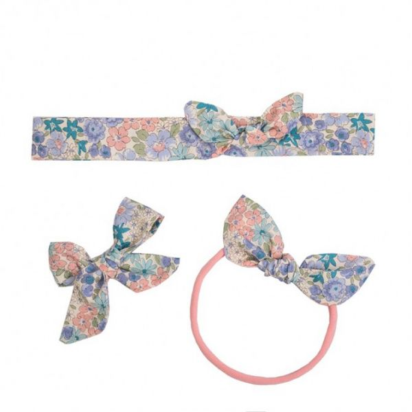 Ul & Ka - Haarclip, Haarband, Haarband mini Set Violet Flowers