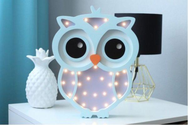 HappyMoon - LED Nachtlampe Eule flieder mint