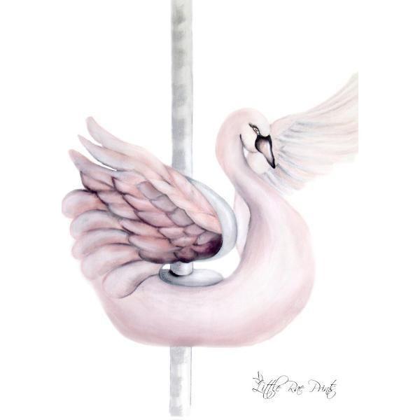 Little Rae Prints - Poster Carousel Swan
