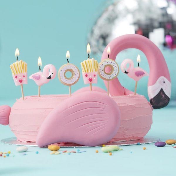 Ginger Ray - Kuchen- Kerzen Donut & Flamingoset