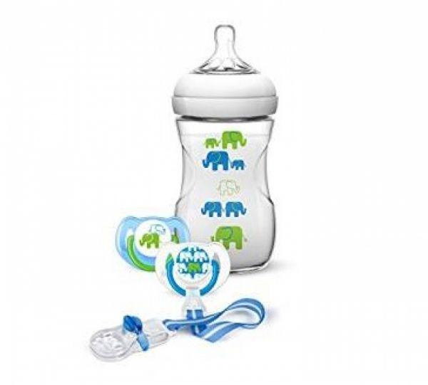 Philips Avent - Elefanten Geschenk-Set grün/blau