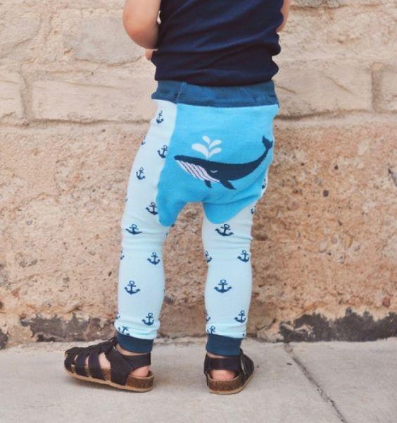 Doodle Pants - Whale Leggings