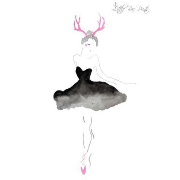 Little Rae Prints - Poster Antler Ballerina