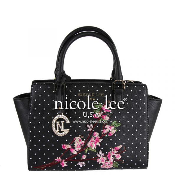 """Nicole Lee - Handtasche """"Kayley Floral"""" schwarz"""