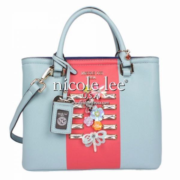 """Nicole Lee - Handtasche """"Colorblock"""" blau"""