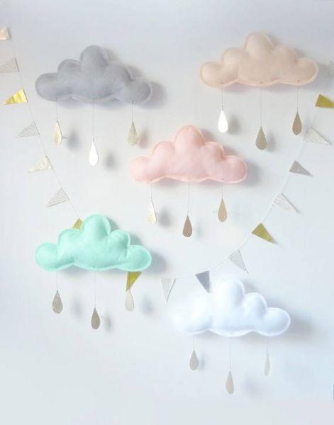 The Butter Flying - Wanddeko Wolke