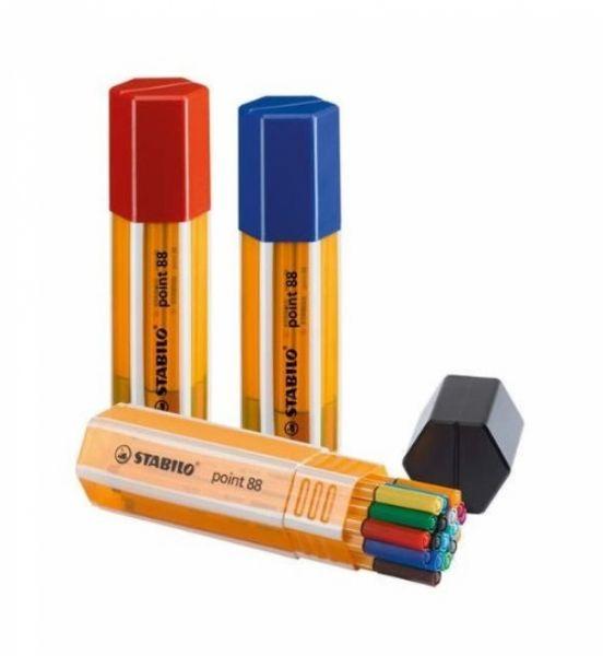 STABILO point 88 Big point Box, 20 Fineliner in 4 Bürofarben