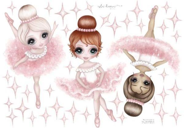 Isla Dream Prints - Wandsticker 3 Ballerinas A2