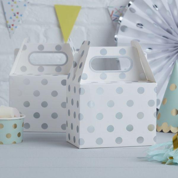 Ginger Ray - Partyboxen Polka Dot Silber