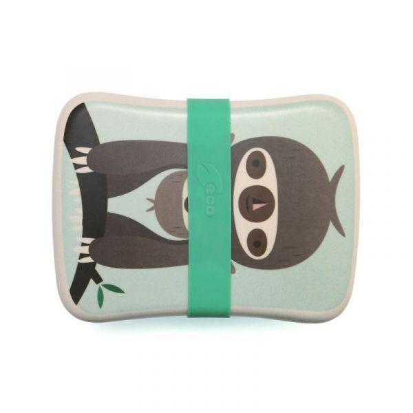Petit Monkey - Bambus Lunchbox Faultier grün