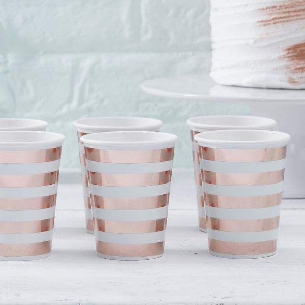 Ginger Ray - Partybecher Mint & Rosegold