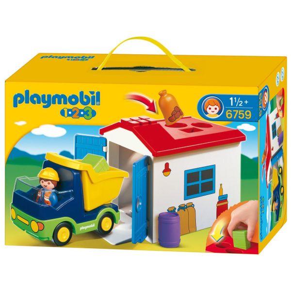PLAYMOBIL® 70184 - LKW mit Sortiergarage