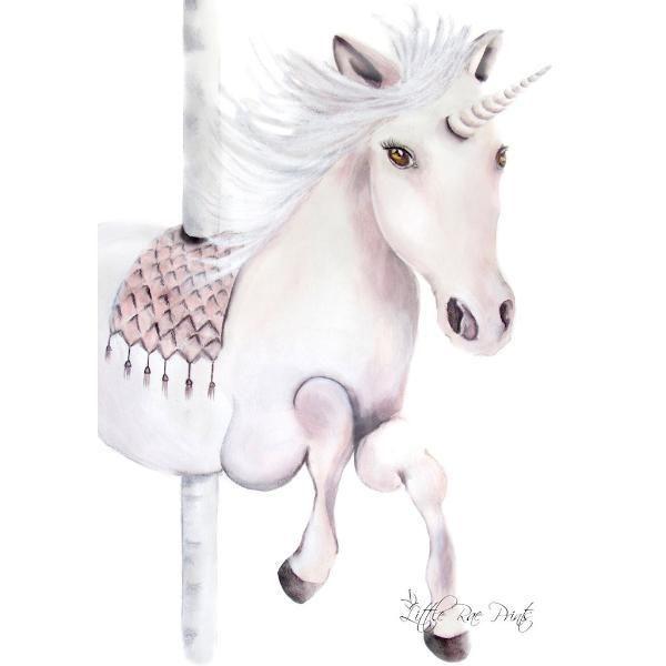 Little Rae Prints - Poster Carousel Unicorn