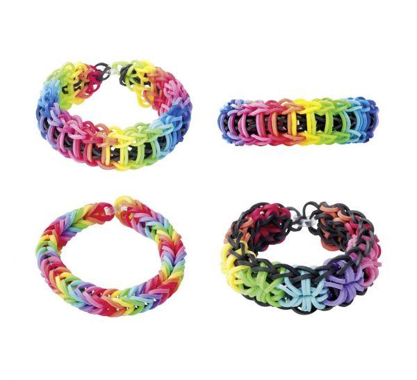 Rainbow Loom - Original Gummibänder, 300 Stück, neon pink