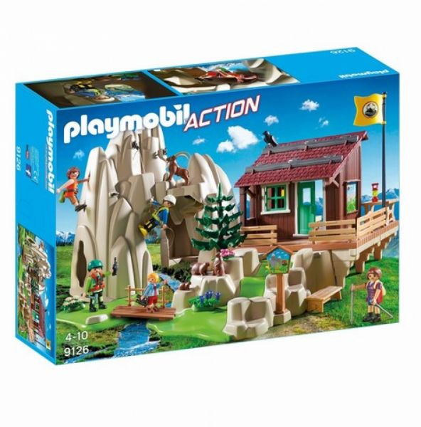 PLAYMOBIL® 9126 - Kletterfels mit Berghütte