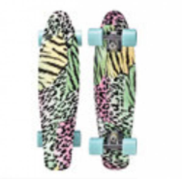 """Skateboard 22"""" Leopard Style"""