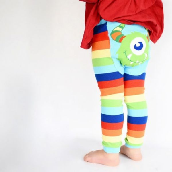 Doodle Pants - Rainbow Monster Leggings