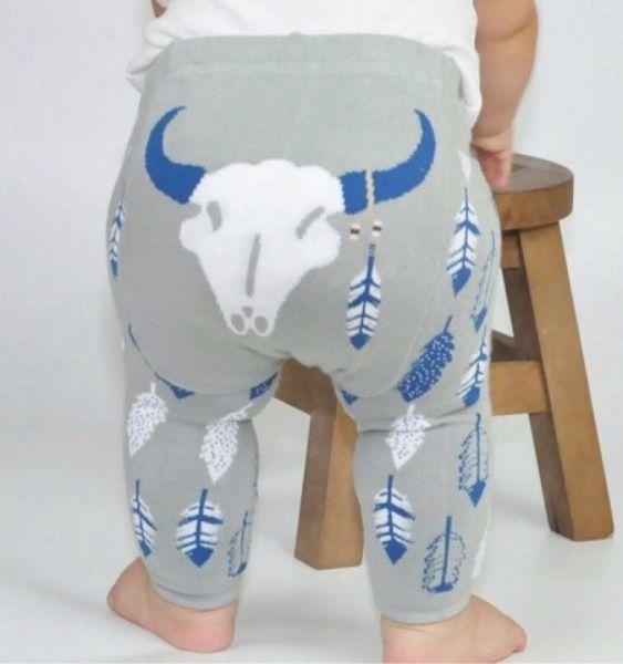 Doodle Pants - Grey Steer Leggings