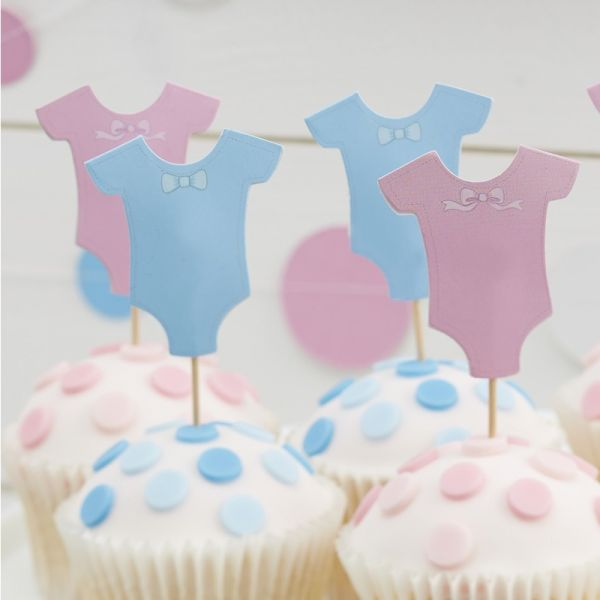Ginger Ray - Cupcake Toppers Little Lady or mini Mister