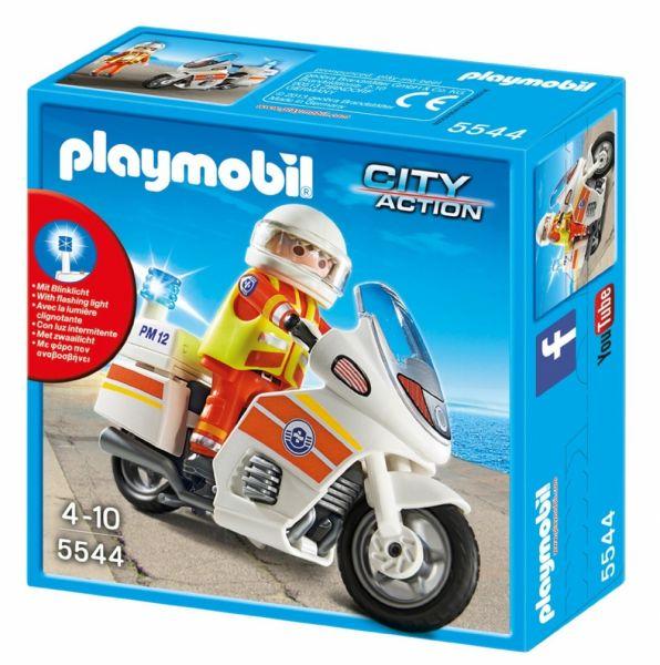 PLAYMOBIL® 5544 - Notarzt-Motorrad mit Blinklicht
