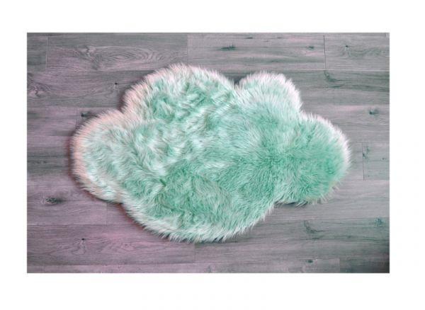 Kroma Carpets - Kunstlammfell Wolke mint