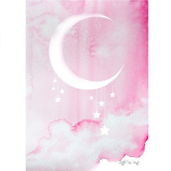 Little Rae Prints - Poster Midnight pink