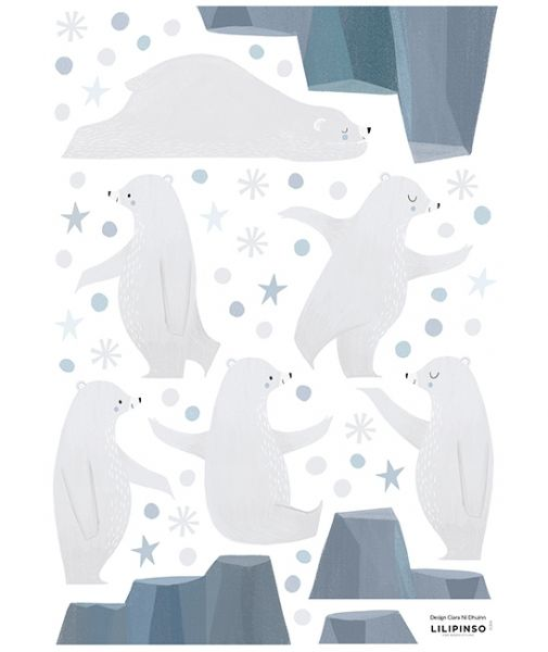 Lilipinso - Wandsticker 5 Bären mit Eisberg