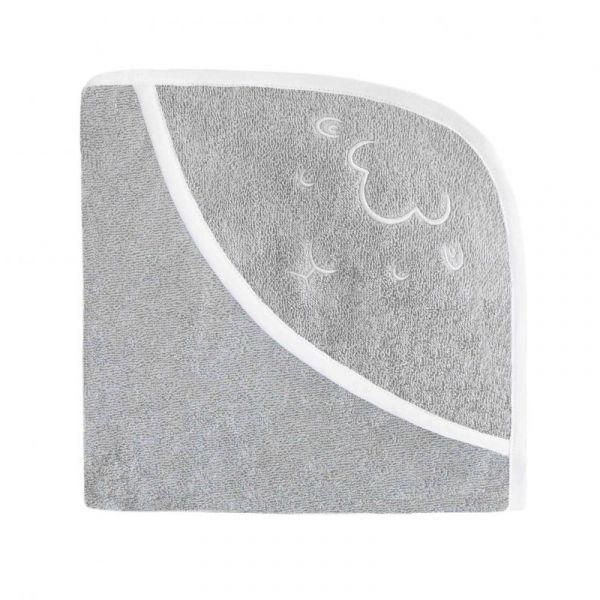 Effiki - Kapuzen Badetuch Schaf grau