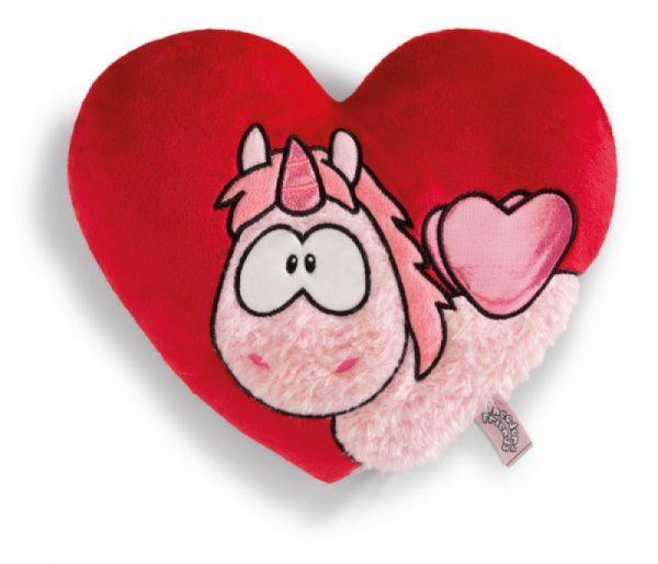 Nici - Kissen Theodor IN LOVE herzförmig