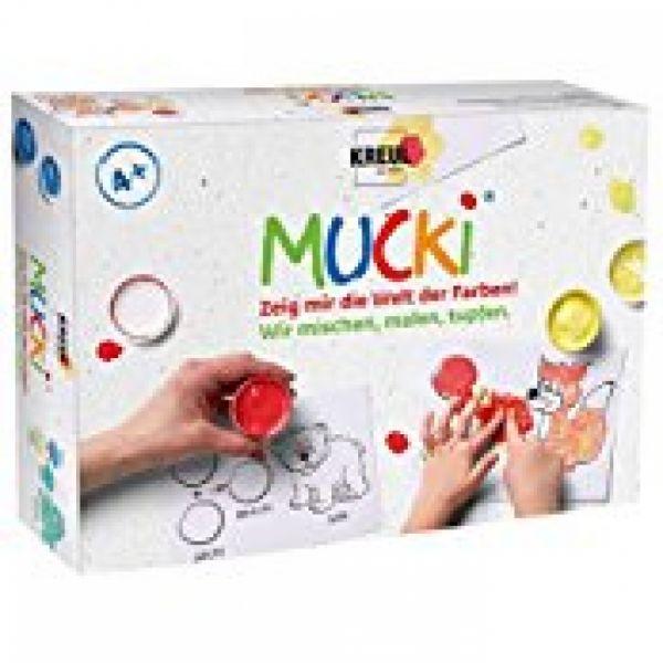 KREUL - Mucki Fingermalfarben 5er Set Wir mischen, malen, tupfen