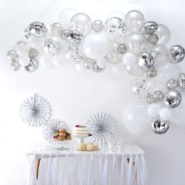 Ginger Ray - Ballon Arch Silber