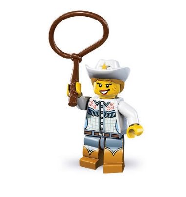 LEGO® Minifiguren Serie 8 - Nr. 4 Cowgirl
