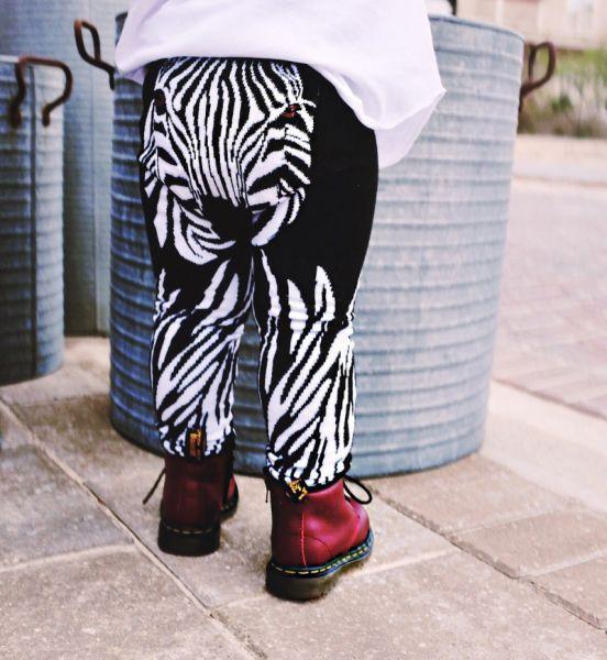 Doodle Pants - Zebra Leggings