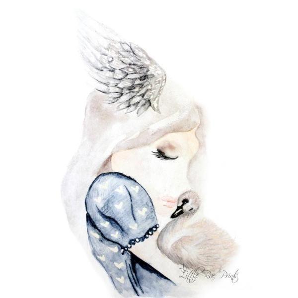 Little Rae Prints - Poster Swan Snuggles