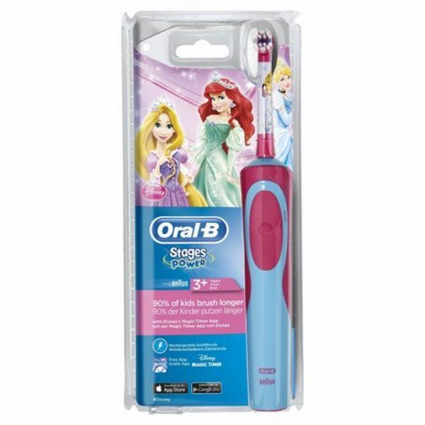 Braun Oral-B - Stages Power Disney-Prinzessinnen, elektrische Zahnbürste