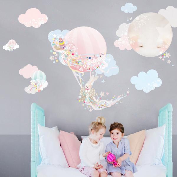 Schmooks - Hot Air Balloon Wandsticker rosa