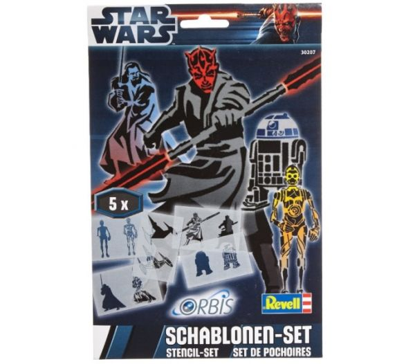 """Orbis 30207 - Kinderairbrush - Schablonen-Set """"Star Wars"""" III"""
