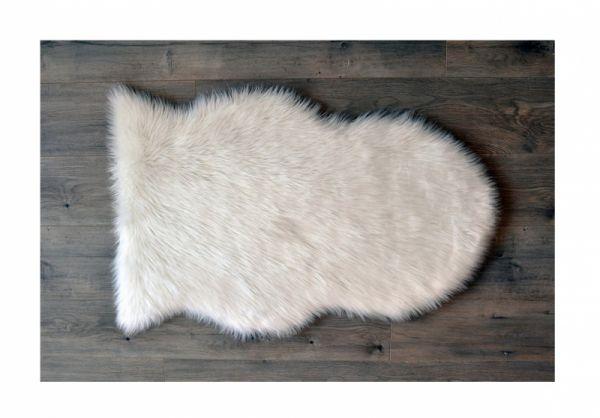 Kroma Carpets - Kunstlammfell Pelt weiss