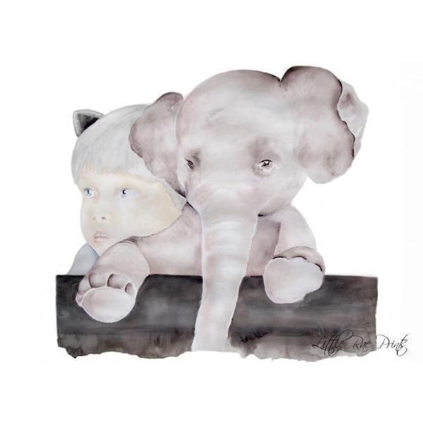 Little Rae Prints - Poster Little Elephant