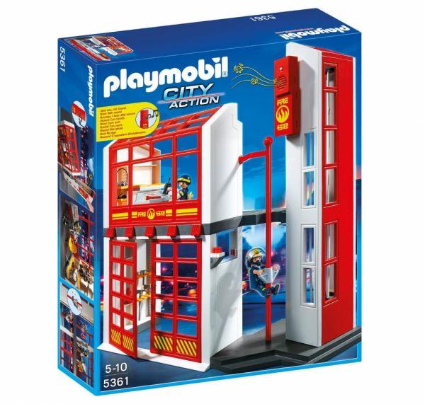 PLAYMOBIL® 5361   Feuerwehrstation Mit Alarm
