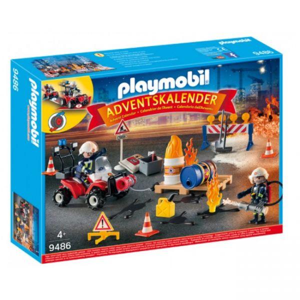 """PLAYMOBIL® 9486 - Adventskalender """"Feuerwehreinsatz auf der Baustelle"""""""